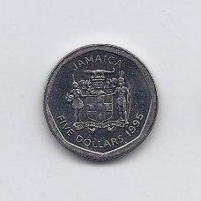 JAMAIKA 5 DOLLARS 1995 KM # 163 XF