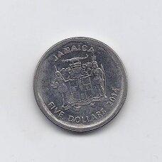 JAMAIKA 5 DOLLARS 2014 KM # 163 VF-XF