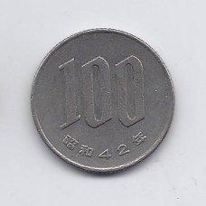 JAPONIJA 100 YEN 1967 Y # 82 VF