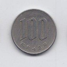 JAPONIJA 100 YEN 1968 Y # 82 VF