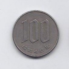 JAPONIJA 100 YEN 1971 Y # 82 VF