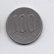 JAPONIJA 100 YEN 1972 Y # 82 VF