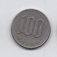 JAPONIJA 100 YEN 1973 Y # 82 VF