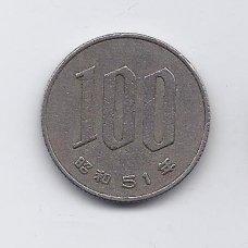 JAPONIJA 100 YEN 1976 Y # 82 VF