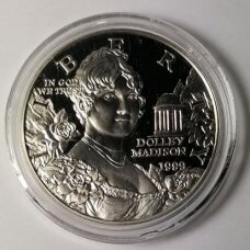 JAV 1 DOLLAR 1999 KM # 298 PROOF Dolley Madison