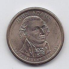 JAV 1 DOLLAR 2007 D KM # 402 XF JOHN ADAMS