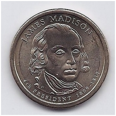 JAV 1 DOLLAR 2007 D KM # 404 UNC JAMES MADISON
