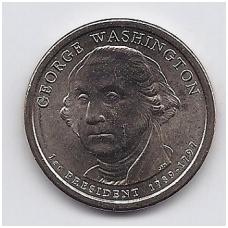 JAV 1 DOLLAR 2007 D KM # 401 UNC VAŠINGTONAS