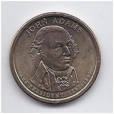 JAV 1 DOLLAR 2007 P KM # 402 UNC JOHN ADAMS