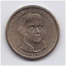 JAV 1 DOLLAR 2007 P KM # 403 UNC THOMAS JEFFERSON