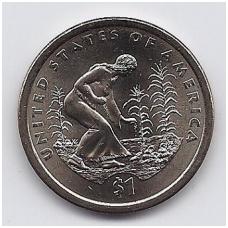 JAV 1 DOLLAR 2009 D KM # 467 UNC INDĖNAI