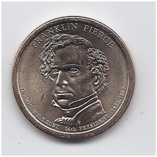 JAV 1 DOLLAR 2010 P KM # 476 UNC FRANKLIN PIERCE