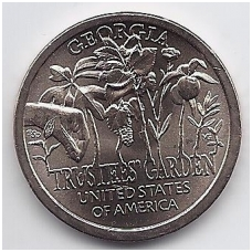 JAV 1 DOLLAR 2019 D KM # new UNC Džordžija