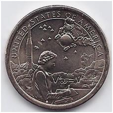 JAV 1 DOLLAR 2019 P KM # new UNC Indėnai kosmoso programoje