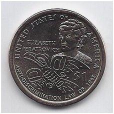 JAV 1 DOLLAR 2020 D KM # new UNC ELŽBIETA PERATROVIČ