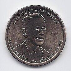 JAV 1 DOLLAR 2020 D KM # new UNC Džordžas Bušas