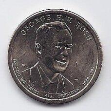 JAV 1 DOLLAR 2020 P KM # new XF/AU Džordžas Bušas