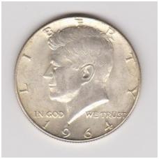 JAV 1/2 DOLERIO 1964 KM # 202 XF / AU ( Kenedis )