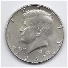 JAV 1/2 DOLERIO 1967 KM # 202a AU ( Kenedis )