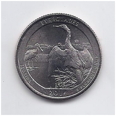 JAV 25 CENTS 2014 P KM # new UNC EVERGLADES
