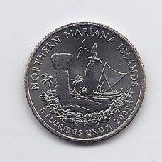 JAV 25 CENTS 2009 D KM # 466 UNC Šiaurės Marianų salos