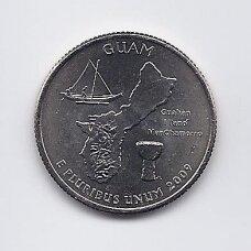JAV 25 CENTS 2009 P KM # 447 UNC Guamas