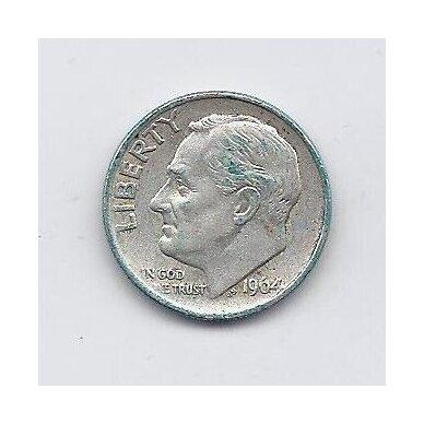 JAV 10 CENTS 1964 KM # 195 XF 2