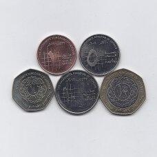 JORDANIJA 2008 - 2012 m. 5 monetų rinkinukas