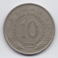 JUGOSLAVIJA 10 DINARA 1976 KM # 62 VF