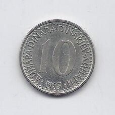 JUGOSLAVIJA 10 DINARA 1985 KM # 89 VF/XF