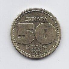JUGOSLAVIJA 50 DINARA 1992  KM # 153 AU