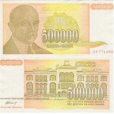 JUGOSLAVIJA 500 000 DINARA 1994 P # 143 VF