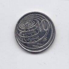 KAIMANŲ SALOS 10 CENTS 2002 KM # 133 XF