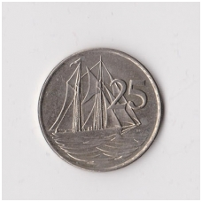 KAIMANŲ SALOS 25 CENTS 1990 KM # 90 VF