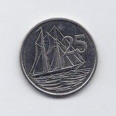 KAIMANŲ SALOS 25 CENTS 2002 KM # 134 XF