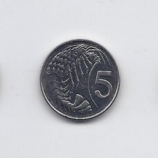 KAIMANŲ SALOS 5 CENTS 2005 KM # 132 XF