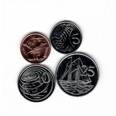 KAIMANŲ SALOS 4 monetų rinkinukas 2005 - 2008 m.