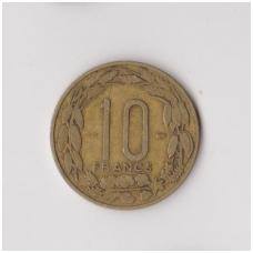 KAMERŪNAS 10 FRANKŲ 1958 KM # 11 VF