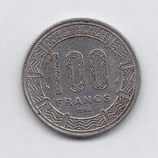 KAMERŪNAS 100 FRANCS 1983 KM # 17 VF