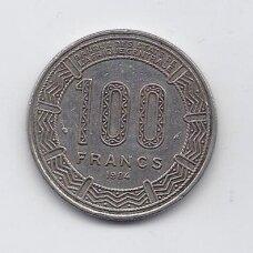 KAMERŪNAS 100 FRANCS 1984 KM # 17 VF