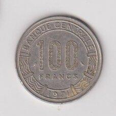 KAMERŪNAS 100 FRANCS 1971 KM # 15 VF