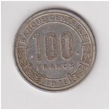 KAMERŪNAS 100 FRANCS 1972 KM # 15 VF