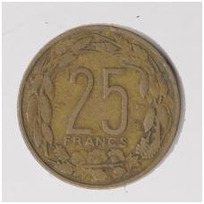 KAMERŪNAS 25 FRANCS 1958 KM # 12 VF