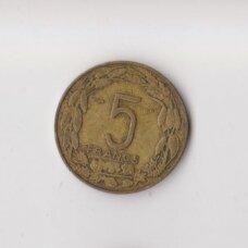 KAMERŪNAS 5 FRANKAI 1958 KM # 10 VF
