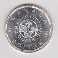 KANADA 1 DOLERIS 1964 KM # 58 AU