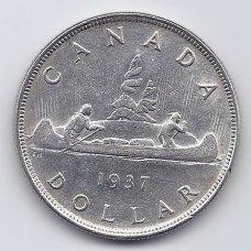 KANADA 1 DOLLAR 1937 KM # 37 VF