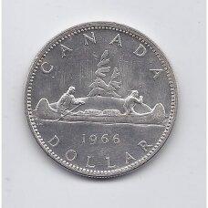 KANADA 1 DOLLAR 1966 KM # 64 VF