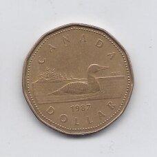 KANADA 1 DOLLAR 1987 KM # 157 VF