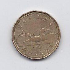 KANADA 1 DOLLAR 1989 KM # 157 VF
