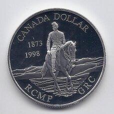 KANADA 1 DOLLAR 1998 KM # 306 PROOF Raitoji policija